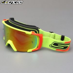 Masque moto Gencod jaune orange
