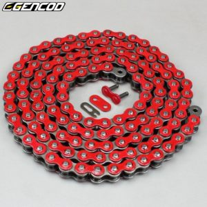 Chaîne moto 420 rouge Gencod